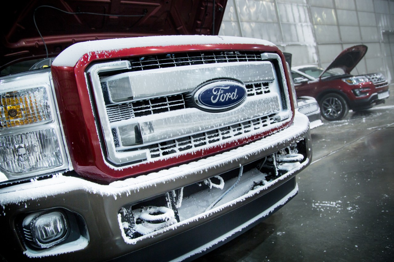 Ford Tests Vehicles in Florida's Extreme Cold-Weather Lab