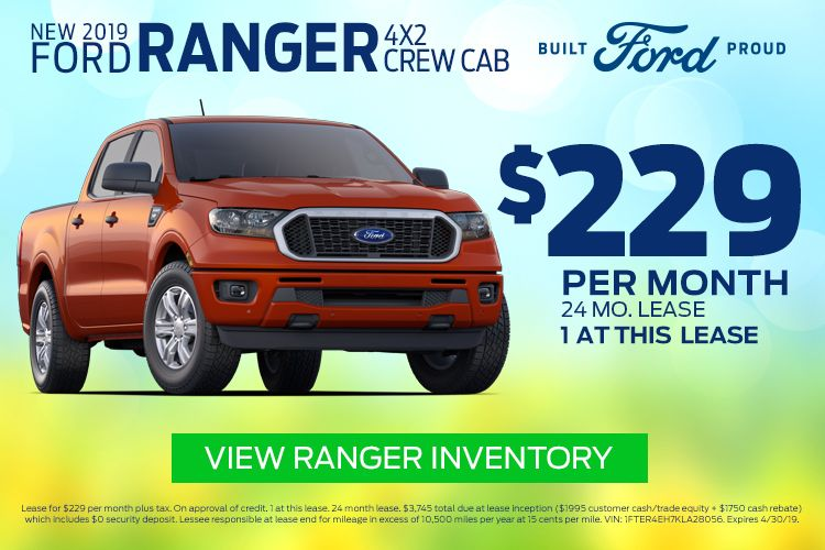 New 2019 Ford Ranger